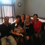 A visit with in my birth suite with my birth attendants - 6 months