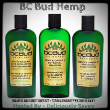 Blogger Opp ~ BC Bud Hemp Skincare Shampoo and Conditioner Set + Exfoliating Body Wash Giveaway