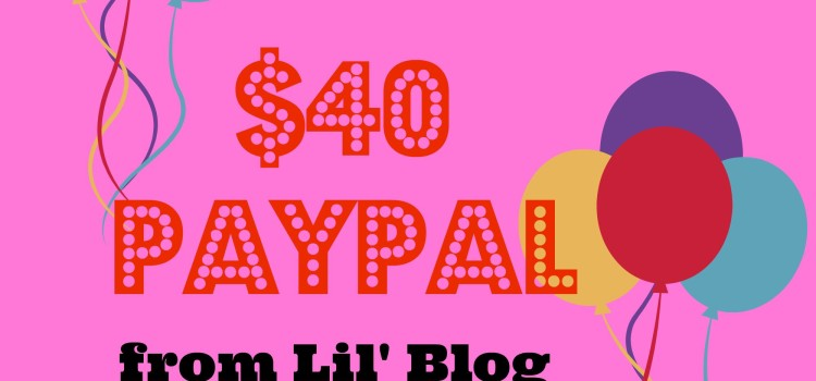 $40 PayPal Giveaway