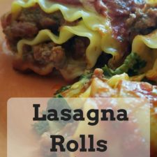Lasagna Rolls with Homemade Sauce in 30 Minutes